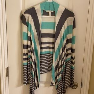 Mint and gray jacket wrap size small